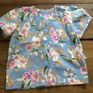 Lacey Lane toddler girl woven floral printed top